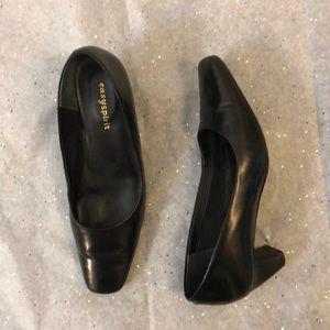 Women Black Heels Shoes Easyspirit brand.